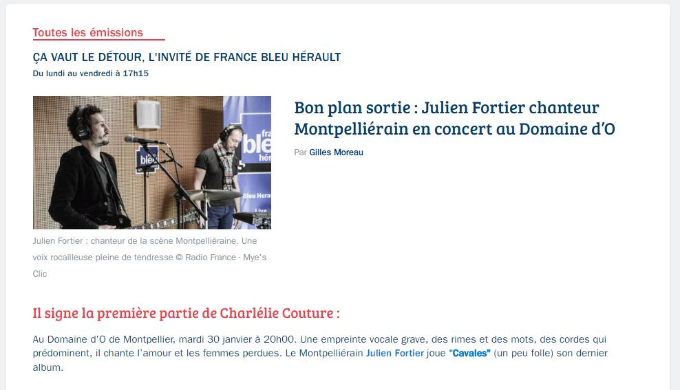 Fortier france bleu 23 01 18